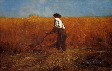 aka works - The Veteran in a New Field aka buchet Realism painter Winslow Homer