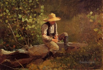 realism - The Whittling Boy Realism painter Winslow Homer