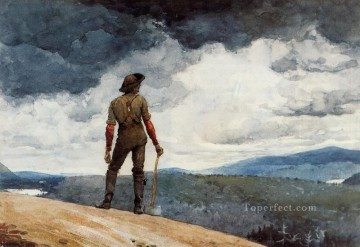 Winslow Homer Painting - The Woodcutter Realism painter Winslow Homer