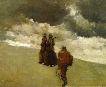 Winslow Homer Painting - To the Rescue Realism painter Winslow Homer