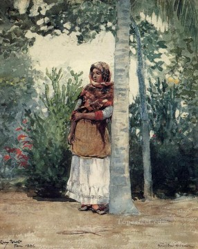 realism - Under a Palm Tree Realism painter Winslow Homer