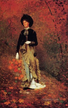 Autumn Realism painter Winslow Homer Oil Paintings