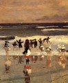 Beach Scene aka Children in the Surf Realism marine painter Winslow Homer