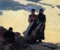 Early Evening aka Sailors Take Warning Realism painter Winslow Homer