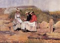 Girls with Lobster aka A Fishermans Daughter Realism painter Winslow Homer