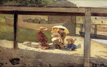 by Works - In Charge of Baby Realism painter Winslow Homer