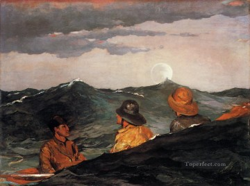 Winslow Homer Painting - Kissing the Moon Realism marine painter Winslow Homer