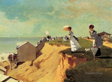marine Oil Painting - Long Branch New Jersey Realism marine painter Winslow Homer