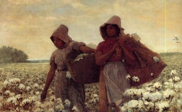 Winslow Homer Painting - The Cotton Pickers Realism painter Winslow Homer