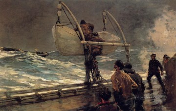 The Signal of Distress Realism marine painter Winslow Homer Oil Paintings
