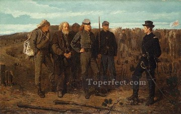 Prisoners From The Front Realism painter Winslow Homer Oil Paintings