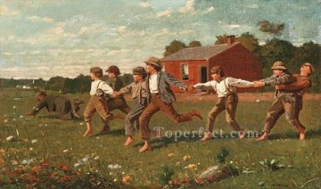 Winslow Homer Painting - Snap The Whip Realism painter Winslow Homer