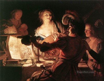 The Prodigal Son 1623 nighttime candlelit Gerard van Honthorst Decor Art
