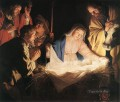 Adoration Of The Shepherds nighttime candlelit Gerard van Honthorst