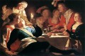 The Prodigal Son 1622 nighttime candlelit Gerard van Honthorst