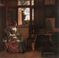 Woman Reading a Letter genre Pieter de Hooch