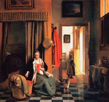 Mother Art - De Mother genre Pieter de Hooch