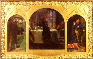 Arthur Hughes Painting - The Eve Of Saint Agnes Pre Raphaelite Arthur Hughes