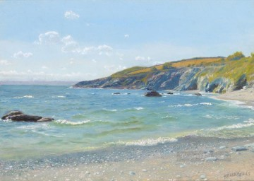 scenery Art Painting - Perran Point Cornwall scenery Arthur Hughes