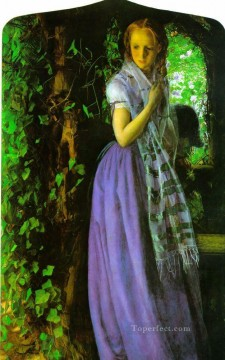 Love Painting - April love Pre Raphaelite Arthur Hughes