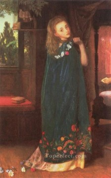 Arthur Hughes Painting - Good Night later version Pre Raphaelite Arthur Hughes