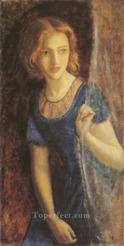 Maria Painting - Mariana at the Window Pre Raphaelite Arthur Hughes