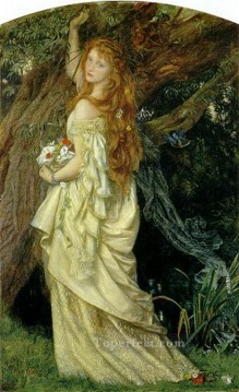 Arthur Hughes Painting - Ophelia And will he not come again Pre Raphaelite Arthur Hughes