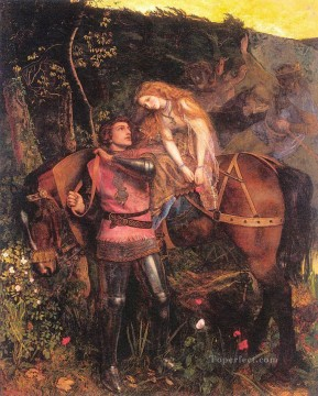 La Belle Dame Sans Merci Pre Raphaelite Arthur Hughes Oil Paintings