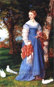 Portrait of Mrs Louisa Jenner Pre Raphaelite Arthur Hughes Oil Paintings