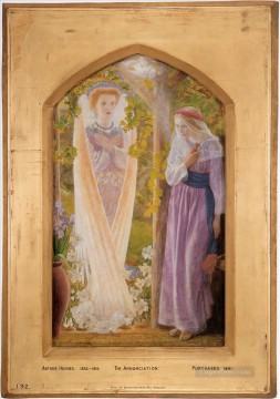 The Annunciation Pre Raphaelite Arthur Hughes Oil Paintings