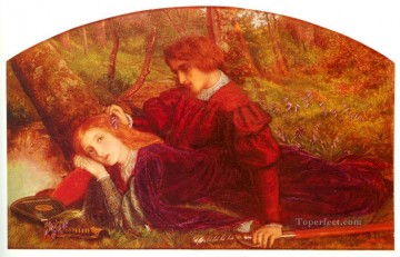 The Brave Geraint Pre Raphaelite Arthur Hughes Oil Paintings