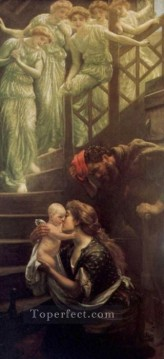 Arthur Hughes Painting - The Heavenly Stair Pre Raphaelite Arthur Hughes