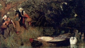 The Lady of Shalott Pre Raphaelite Arthur Hughes Oil Paintings