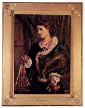 Artists Oil Painting - The Birthday A Portrait Of The Artists Wife Edith British William Holman Hunt
