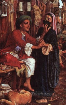 hunt Painting - The Lantern Makers Courtship British William Holman Hunt
