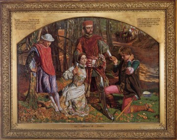 William Holman Hunt Painting - Valentine rescuing Sylvia from Proteus British William Holman Hunt