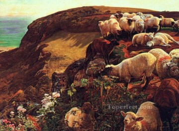 Coast Painting - On English Coasts British William Holman Hunt