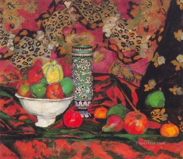 Artworks by 350 Famous Artists Painting - still life with fruits 1908 Ilya Mashkov