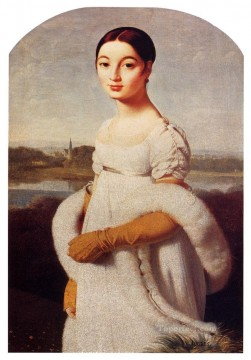classical Painting - Auguste Dominique Portrait Of Mademoiselle Caroline Riviere Neoclassical Jean Auguste Dominique Ingres