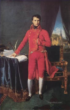 classical Painting - Bonaparte as First Consul Neoclassical Jean Auguste Dominique Ingres