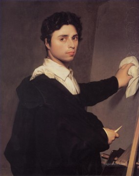 classical Painting - Copy after Ingress 1804 Self Portrait Neoclassical Jean Auguste Dominique Ingres