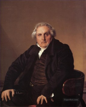 Louis Francois Bertin Neoclassical Jean Auguste Dominique Ingres Oil Paintings