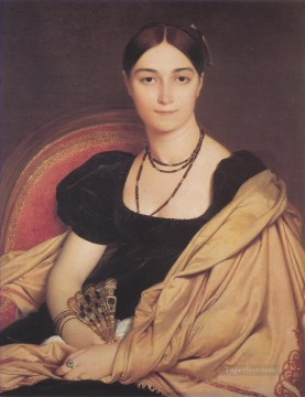 Madame Duvaucey Neoclassical Jean Auguste Dominique Ingres Oil Paintings