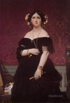 Madame Paul Sigisbert Moitessier Neoclassical Jean Auguste Dominique Ingres Oil Paintings