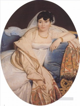Madame Riviere Neoclassical Jean Auguste Dominique Ingres Oil Paintings