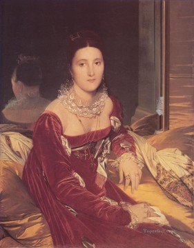 Madame de Senonnes Neoclassical Jean Auguste Dominique Ingres Oil Paintings