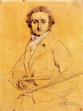 classic Canvas - Niccolo Paganini Neoclassical Jean Auguste Dominique Ingres