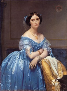 Princess Albert de Broglie Neoclassical Jean Auguste Dominique Ingres Oil Paintings