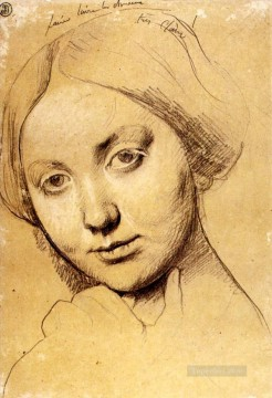 Study for Vicomtesse d Haussonville born Louise Albertine de Broglie2 Neoclassical Jean Auguste Dominique Ingres Oil Paintings
