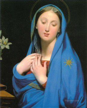 Virgin Painting - Virgin of the Adoption Neoclassical Jean Auguste Dominique Ingres